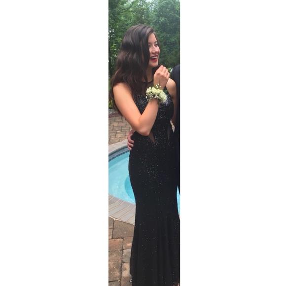 Dresses   Black Sequin Prom Dress   Poshmark